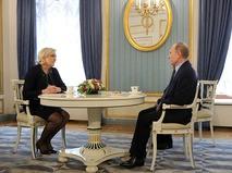 Кандидат в президенты Франции Марин Ле Пен и президент РФ Владимир Путин