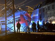 Авария на железной дороге в Москве