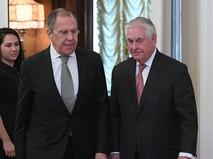 Министр иностранных дел РФ Сергей Лавров и госсекретарь США Рекс Тиллерсон