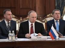 Владимир Путин на заседании Высшего Евразийского экономического совета (ВЕЭС)