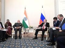 Премьер-министр Индии Нарендра Моди и президент России Владимир Путин