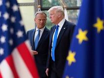Председатель Евросовета Дональд Туск и президент США дональт Трамп