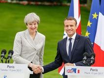 Премьер-министр Великобритании Тереза Мэй и президент Франции Эммануэль Макрон