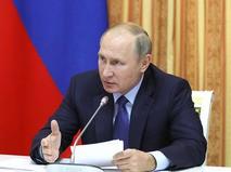 Владимир Путин на совещании по вопросам развития сельского хозяйства