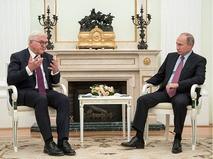 Президент Германии Франк-Вальтер Штайнмайер и президент России Владимир Путин