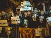 Митинг у здания парламента Барселоны