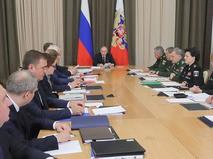 Владимир Путин проводит совещание по вопросам ресурсного обеспечения технического переоснащения Вооруженных сил
