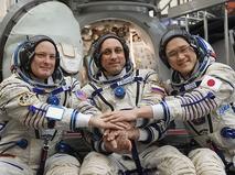 Члены основного экипажа 54/55-й длительной экспедиции на МКС после комплексных экзаменационных тренировок