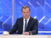 Интервью премьер-министра Дмитрия Медведева российским телеканалам