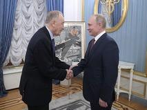 Народный артист СССР Родион Щедрин и президент России Владимир Путин