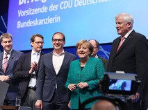 Канцлер ФРГ Ангела Меркель приняла участие в съезде Христианско-социального союза