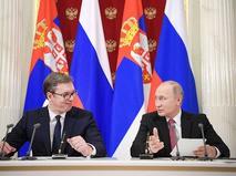 Владимир Путин и Александр Вучич