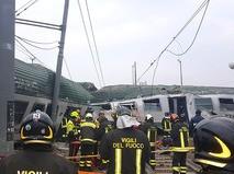Крушение поезда на севере Италии