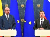 Премьер-министр Бельгии Шарль Мишель и председатель правительства России Дмитрий Медведев