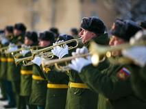 Репетиция военного парада в честь победы в Сталинградской битве