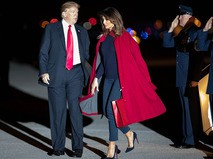 Президент США Дональд Трамп с супругой