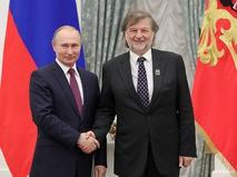 Владимир Путин и композитор Алексей Рыбников