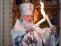 Патриарх Московский и всея Руси Кирилл на праздничном пасхальном богослужении