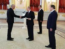 Владимир Путин принял верительные грамоты у послов иностранных государств