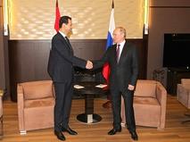 В Сочи Владимир Путин встретился с президентом Сирии Башаром Асадом