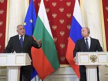 Премьер-министр Болгарии Бойко Борисов и президент России Владимир Путин на пресс-конференции по итогам встречи