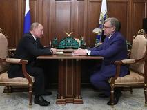 Владимир Путин и председатель Счётной палаты Алексей Кудрин