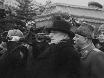 Лаврентий Берия на похоронах И.В. Сталина