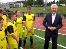 Сергей Собянин и юные футболисты