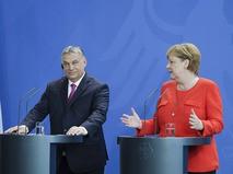 Премьер-министр Венгрии Виктор Орбан и канцлер Германии Ангела Меркель