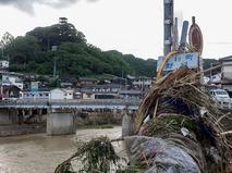 Последствия сильнейшего наводнения в Японии