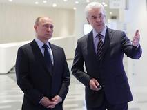 Владимир Путин и мэр Москвы Сергей Собянин на Московском урбанистическом форуме