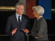 Министр финансов Франции Брюно Ле Мэр и директор-распорядитель МВФ Кристин Лагард