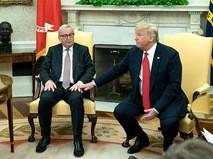 Глава Еврокомиссии Жан-Клод Юнкер и президент США Дональд Трамп