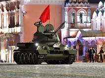 Репетиция военного парада, посвящённого 74-й годовщине Победы
