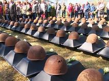 Перезахоронение останков советских воинов в Латвии