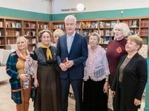 Сергей Собянин посетил городской клуб для пожилых людей