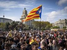 Демонстранты в Каталонии