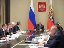 Владимир Путин проводит совещание по вопросам ликвидации последствий паводков