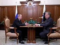 Встреча Владимира Путина с председателем Счётной палаты Алексеем Кудриным
