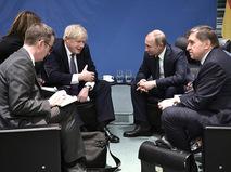 Владимир Путин и Борис Джонсон
