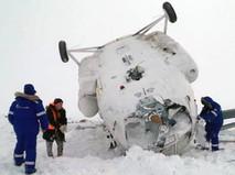 Кадры с места падения Ми-8 на Ямале