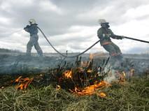 Тушение степного пожара