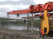 Ремонт моста под Мурманском