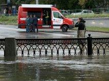 Последствия ливня в Москве