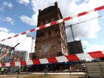 Работы по перемещению водонапорной башни конца XIX века