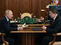 """Владимир Путин и президент ПАО """"Ростелеком"""" Михаил Осеевский"""