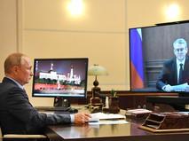 Владимир Путин и Владимир Солодов общаются по видеосвязи