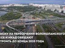 Развязка на пересечении Волоколамского шоссе и МКАД