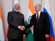 Владимир Путин и премьер-министр Индии Нарендра Моди