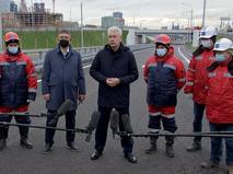 Сергей Собянин во время открытия движения по проспекту